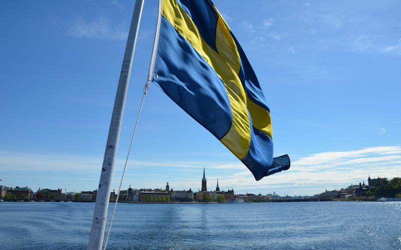 Stockholm Sweden flag
