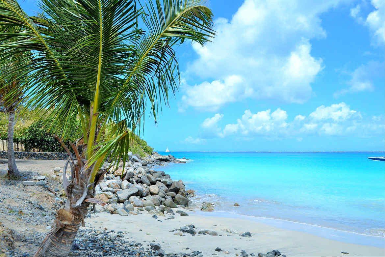 Caribbean island beach