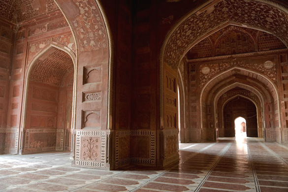 Arches within the Taj Mahal's mosque