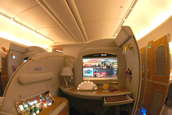 First Class flight from Emirates