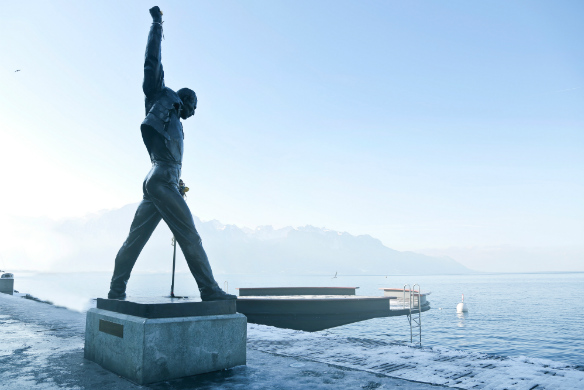Freddie Mercury, Lake Geneva, Montreux, Switzerland