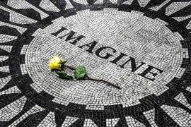 John Lennon, Strawberry Fields, Central Park, New York, USA