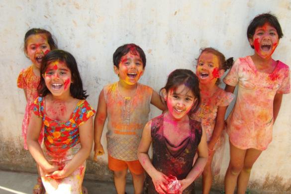India children laughing