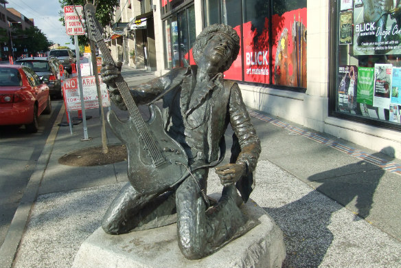 Jimi Hendrix, Seattle, USA
