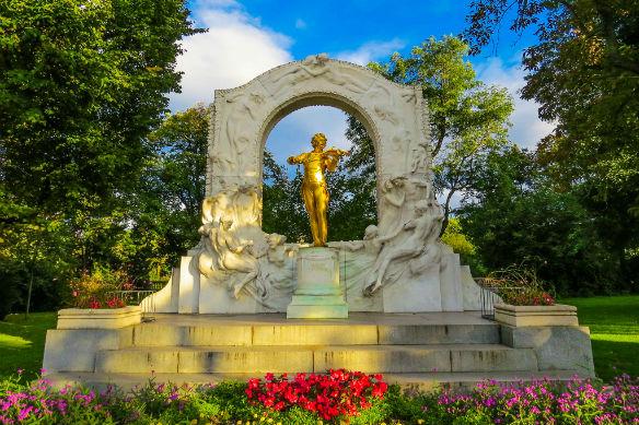 Johann Strauss monument, Vienna, Austria