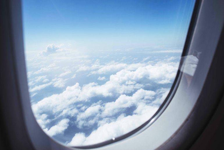 Plane travel sky