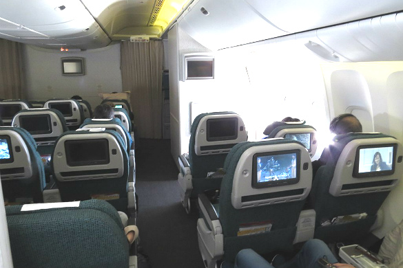 Premium Economy flight from Cathay Pacific