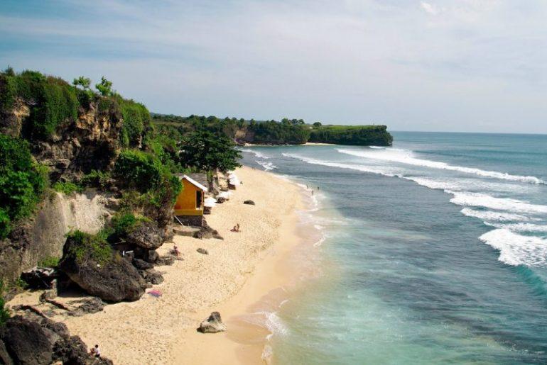 View of Balangan Beach, Bali in Indonesia