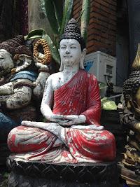 Hindu Statue in Ubud Street, Bali
