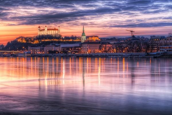 Bratislava Slovakia Danube River
