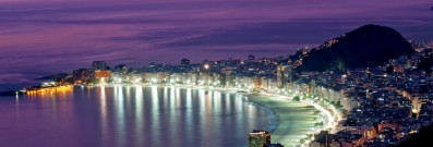 Copacabana beach is beautiful in the day and night.