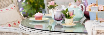 Settle down for high tea on a rainy day in London.
