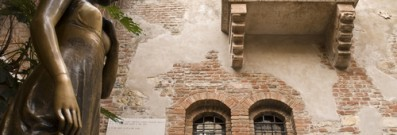Visit Juliet in Verona on Valentine's Day.