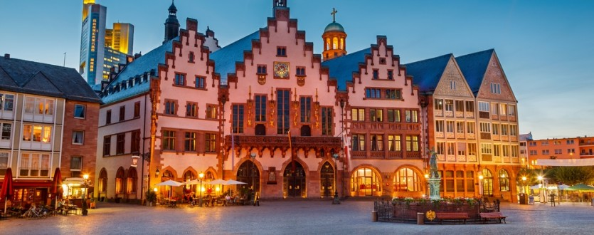 Visit the gorgeous Romer town hall in Frankfurt.