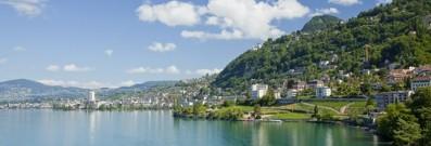 Visit the stunning lakes in Switzerland.